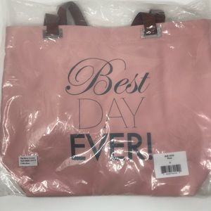"NEW! ""Best Day Ever"" Tote Bag (Rose)"